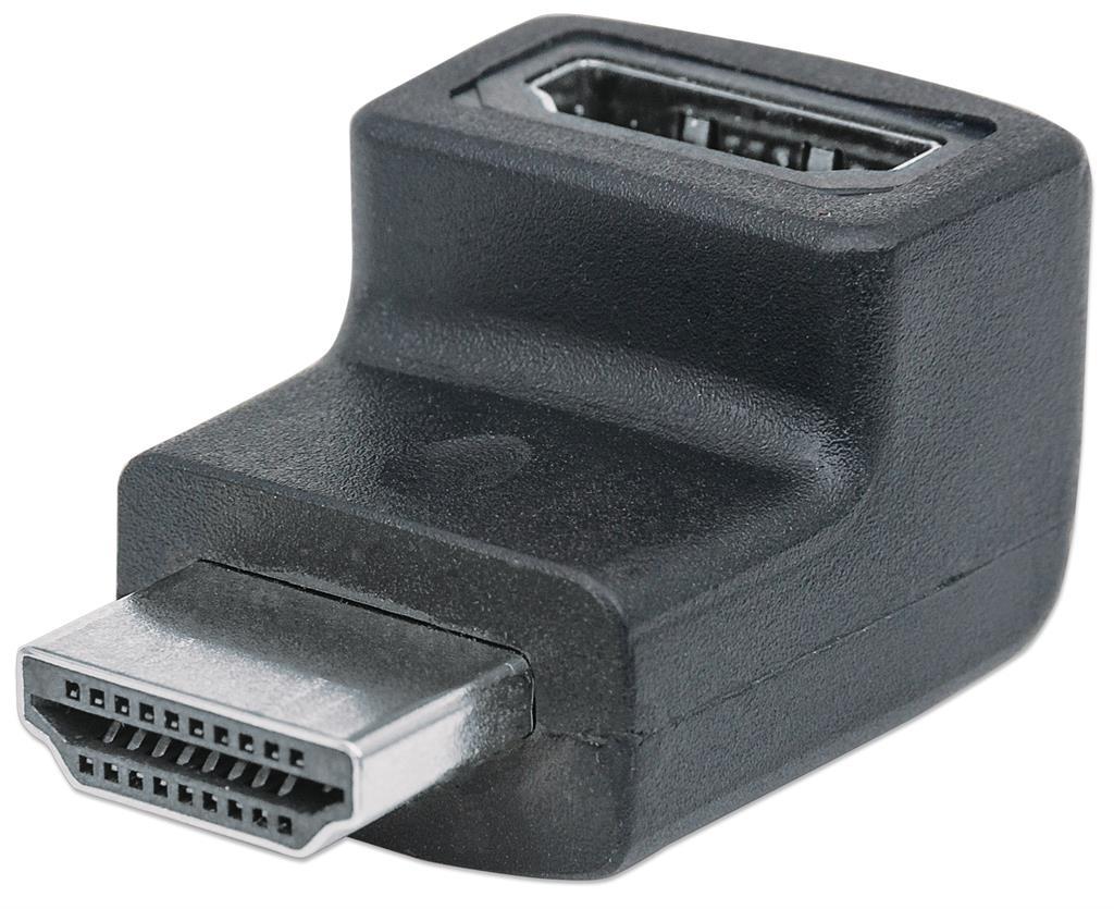 Manhattan redukce HDMI, HDMI A <-> HDMI A, M/F, zahnutý dolů 90°