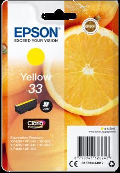 Premium Ink Epson Singlepack Yellow 33