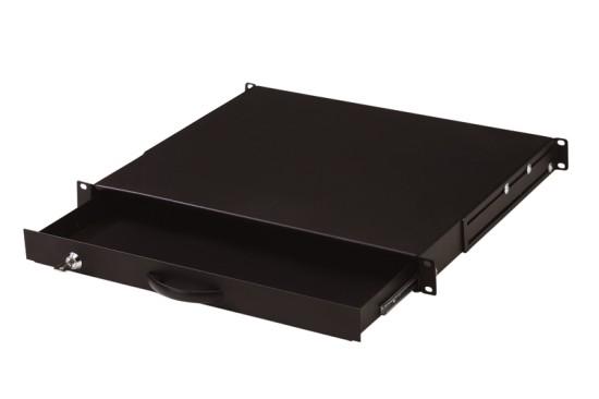 """Digitus 19"""" uzamykatelný šuplík na klávesnici 1U černý RAL 9005"""