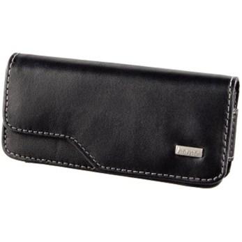 Hama kožené pouzdro na mobilní telefon Liveri, velikost 2, horizontální, černé
