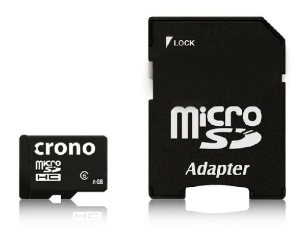 Crono micro Secure Digital HC (microSDHC) karta 8GB Class 6 + adaptér