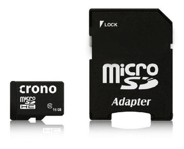 Crono micro Secure Digital HC (microSDHC) karta 16GB Class 10 + adaptér