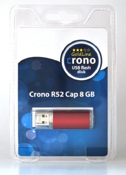 Crono R52 Cap 8GB Red - USB flash disk, červený