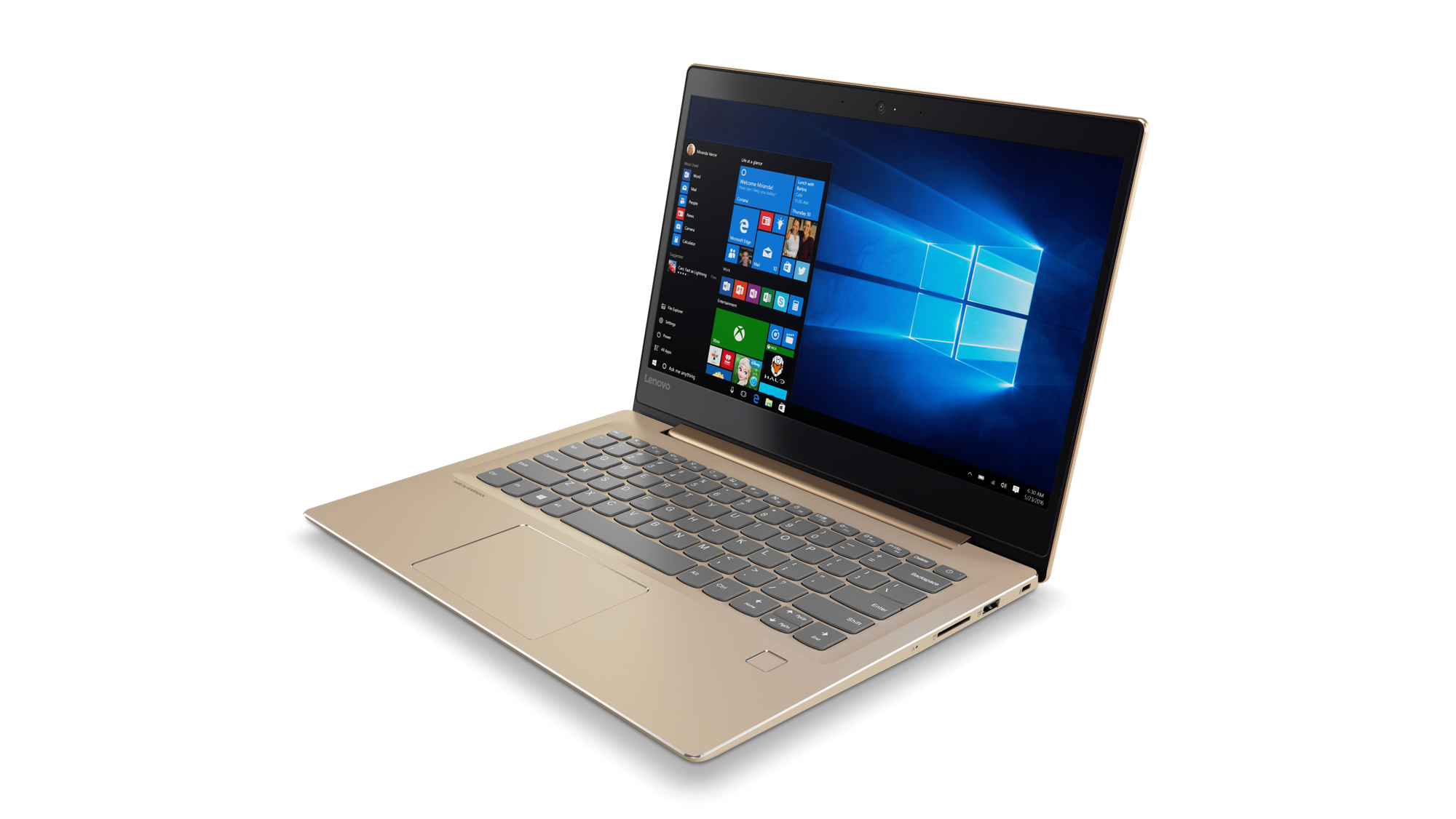 Lenovo IdeaPad 520S-14IKB 14.0 FHD IPS AG/i3-7100U/4G/128SSD/INT/W10H/Backlit/720p/Zlatá