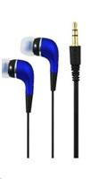 PLUS stereo sluchátka K2500, 3,5 mm jack, modrá