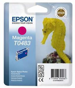 Inkoust Epson T0483 magenta | Stylus Photo R200/220/300/320/340,RX500/600/640