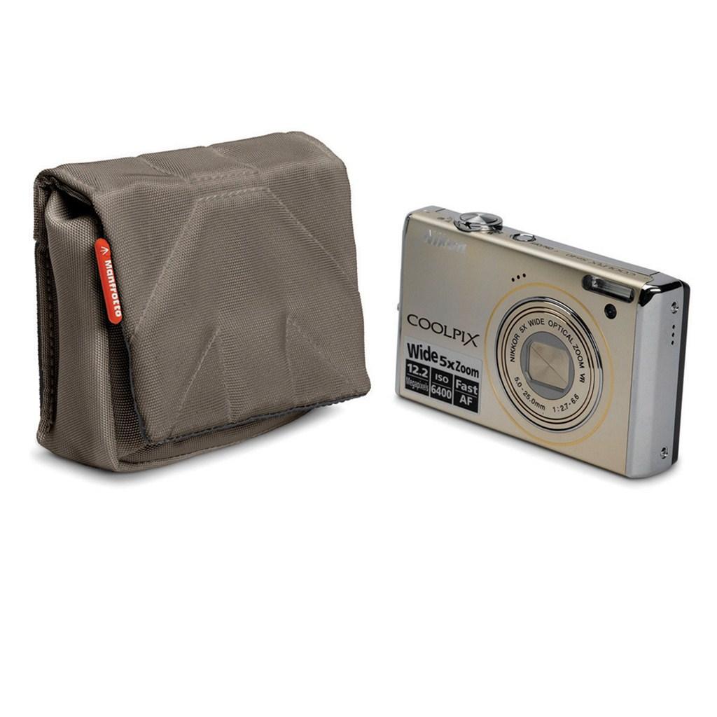 Manfrotto STILE SCP-1BC NANO, pouzdro na kompaktní fotoaparát vel.1, olivově hnědá