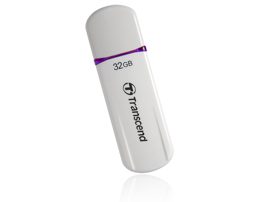 TRANSCEND USB Flash Disk JetFlash®620, 32GB, USB 2.0, White/Purple (SecureDrive) (R/W 32/16 MB/s)