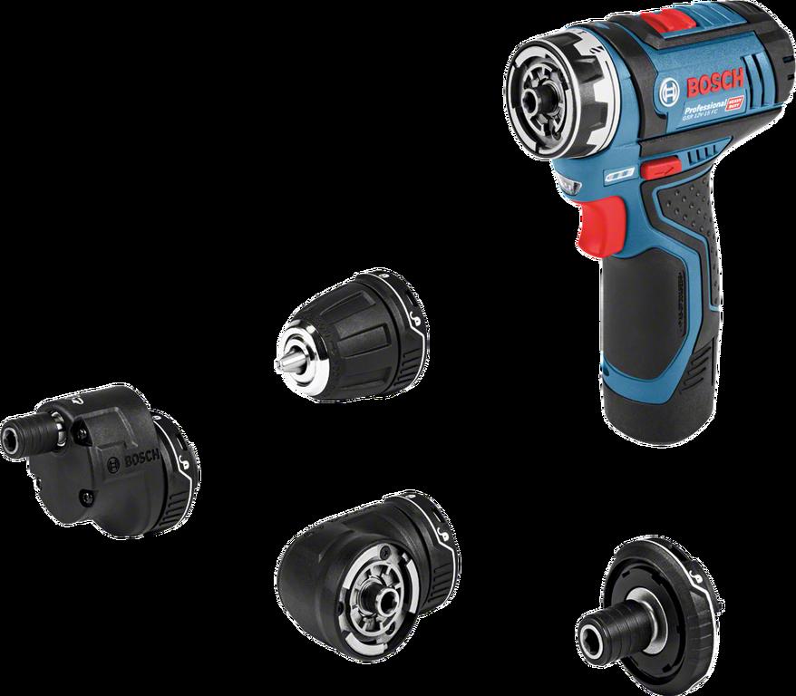 Aku vrtací šroubovák Bosch GSR 12V-15 FC Flex Professional,2x aku,1x nabíječka, 06019F6001