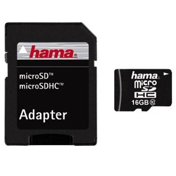 Hama microSDHC 16 GB Class 10 + Adapter/Mobile 22 MB/s