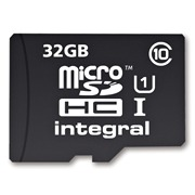 INTEGRAL Micro SDHC karta 32GB Class 10 (rychlost čtení až 40MB/s) +SDHC adaptér