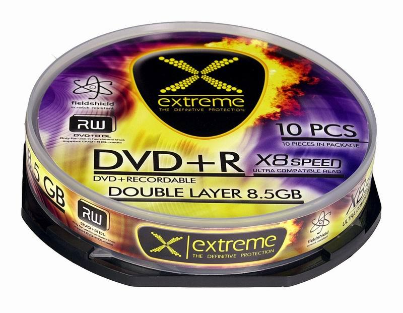 Extreme DVD+R Double Layer [ cake box 10 | 8.5 GB | 8x ]