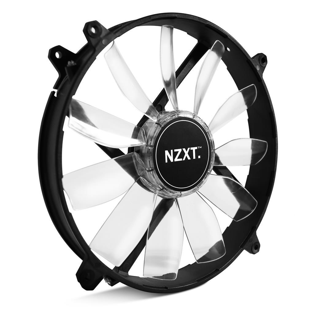 NZXT High Airflow ventilátor 200x200x30mm, bílý LED
