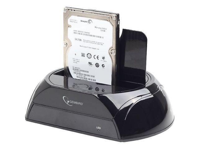 """Gembird dokovací stanice pro HDD SATA 2,5"""" + 3,5"""", USB3.0, černá"""