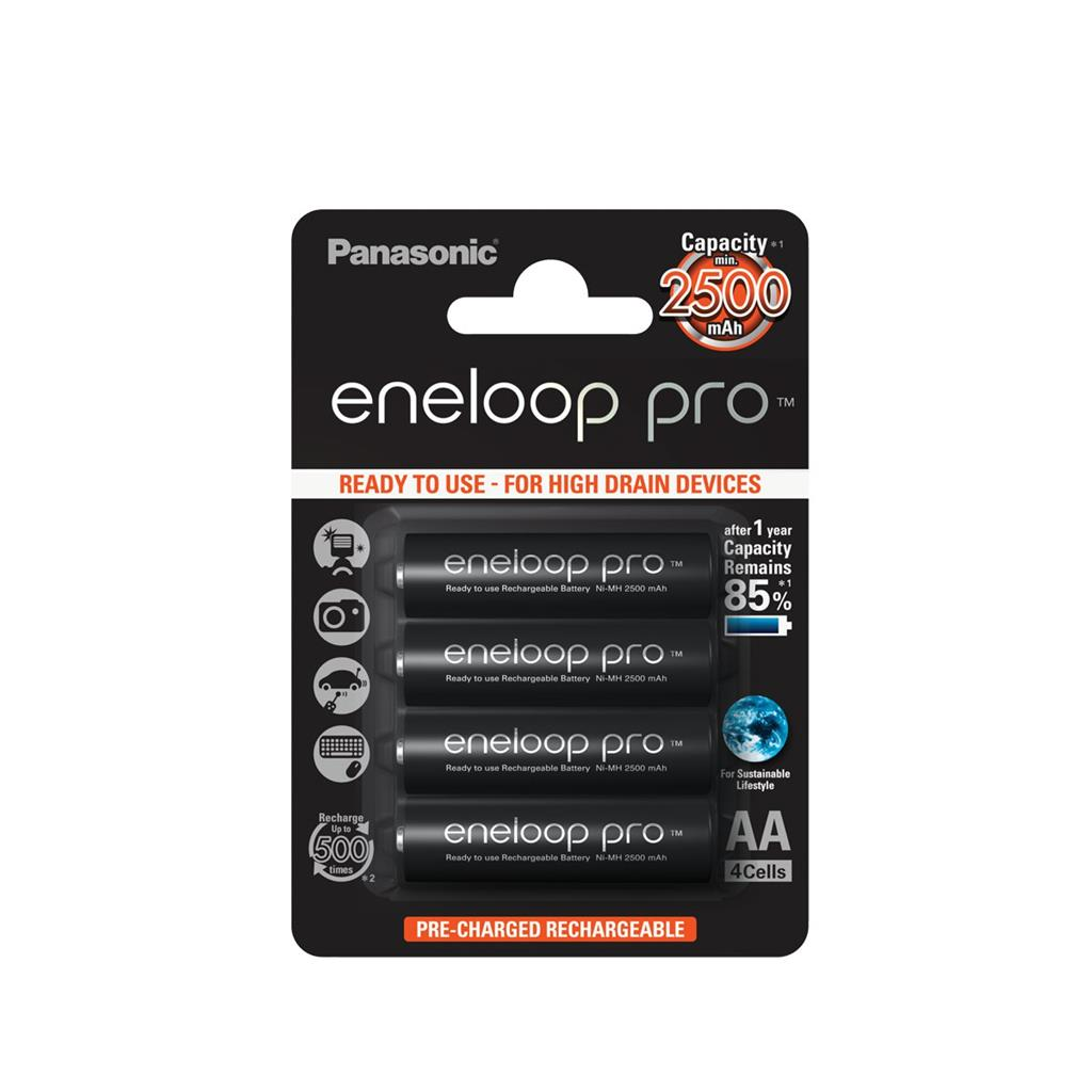 Panasonic Eneloop Pro R6/AA 2500mAh, 4 ks, Blister