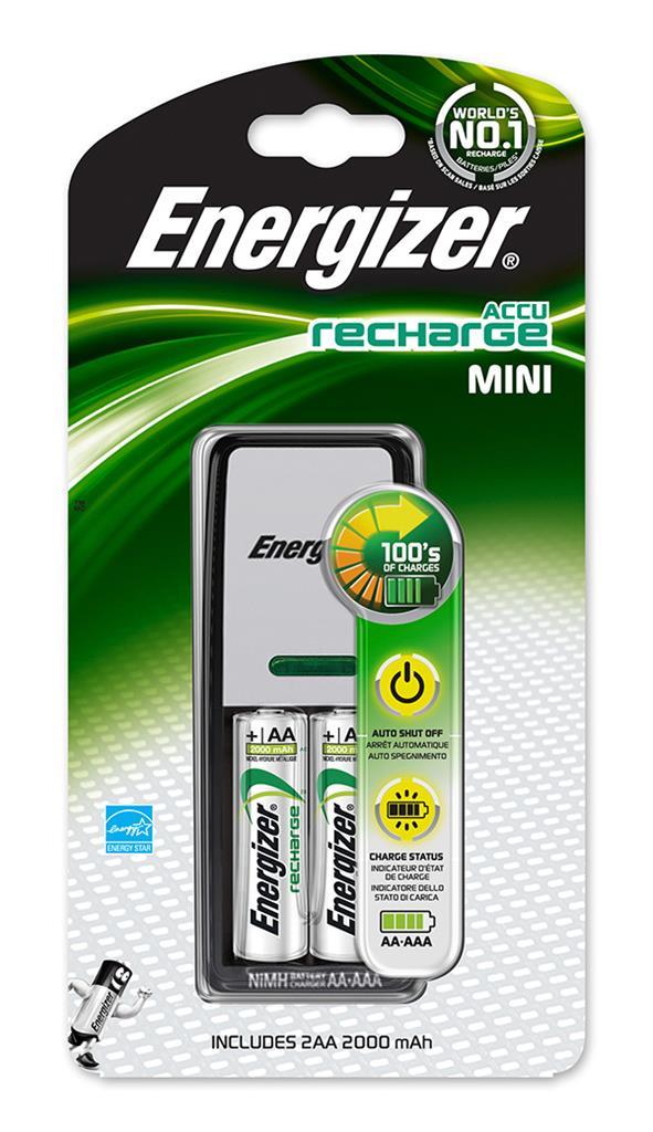 ENERGIZER Nabíječka baterií NiMH Mini AA + 2AA Power Plus 2000 mAh