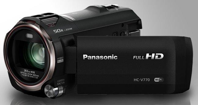 "Panasonic HC-V770EP-K, 1/2,3"" BSI, 20x zoom, 120 fps, WiFi, černá"