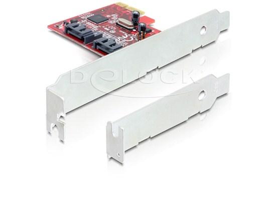 Delock karta PCI Express -> 2x interní SATA III (6Gb/s)