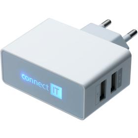 CI-151W nabíječka 2xUSB 3.1A CONNECT IT