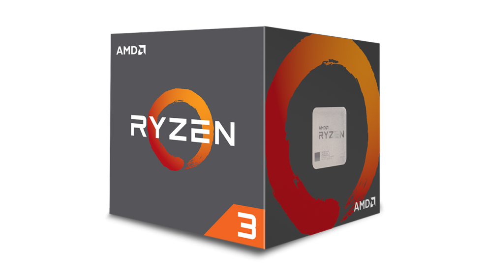 CPU AMD Ryzen 3 1300X 4core (3,5GHz) chladič Wrait