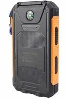 Solární outdoorová powerbanka Delta I 8000mAh, černo-oranžová