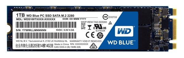 WD BLUE SSD WDS100T1B0B 1TB SATA/600 M.2 2280