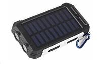 Solární outdoorová powerbanka Delta I 8000mAh, černo-bílá