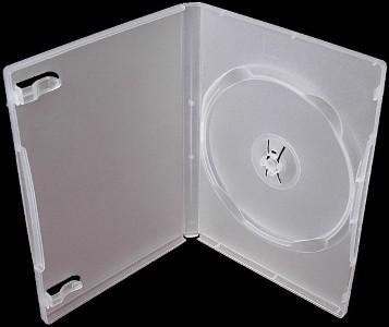 Krabička na 1x DVD - čirá - slim 7mm