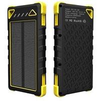 Solární power bank VIKING SPT-80 8000 mAh, žlutá