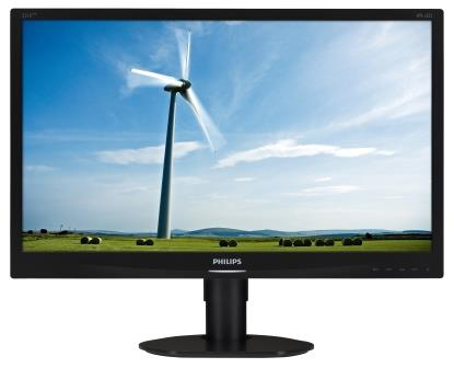 "Philips MT IPS LED 23"" 231S4QCB/00 - IPS panel, 1920x1080, 250cd/m, 20M:1, D-Sub, DVI-D, pivot"