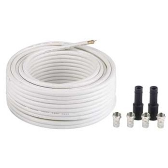 Hama satellite Digital Connection Kit incl. 4 F-Plugs, 2 rubber tubes, 20 m