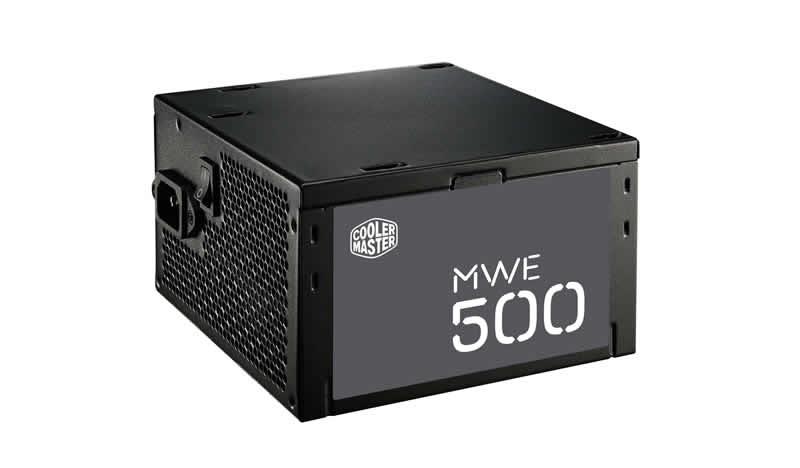 Cooler Master zdroj MWE 500W aPFC v2.3, 12cm fan, 80+ white