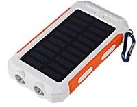 Solární outdoorová powerbanka Delta I 8000mAh, bílo-oranžová