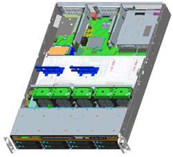 Intel® Server platforma 2U LGA 2x 3467, 24x DDR4 12x HDD 3.5 HS 2x RSC,(6xPCIe3.0 x8), 2x 10GbE,1x1300W