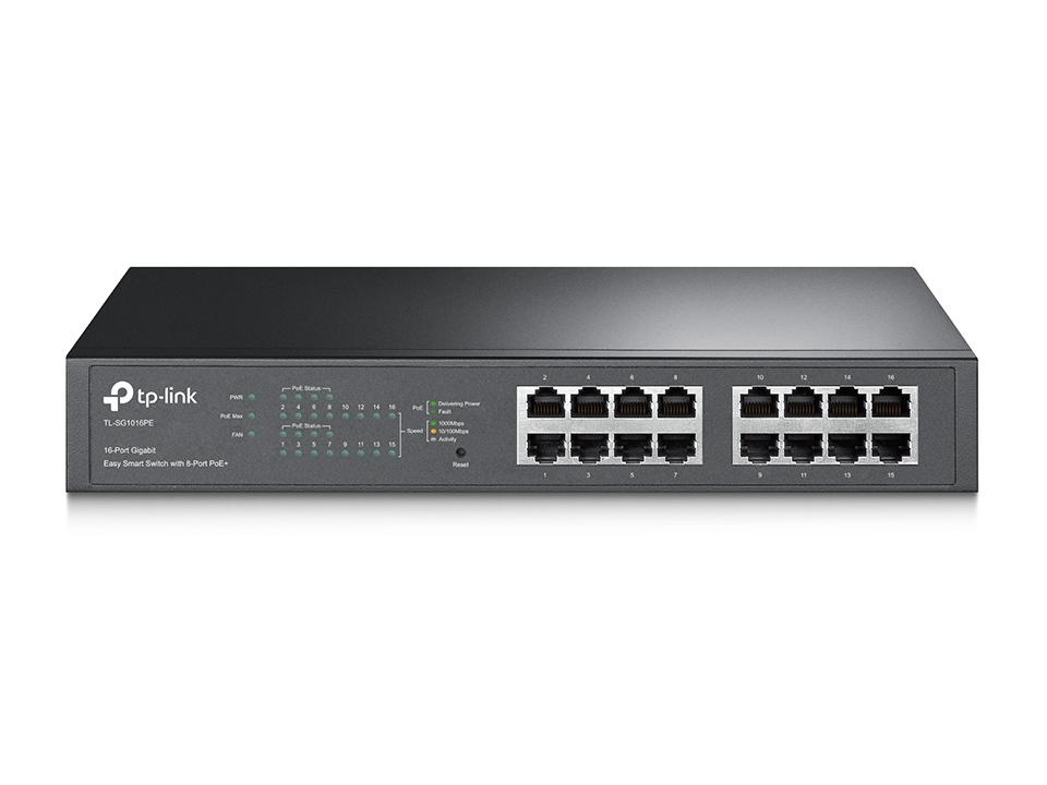 TP-Link TL-SG1016PE 16xGb, 8xPOE+ 110W Switch