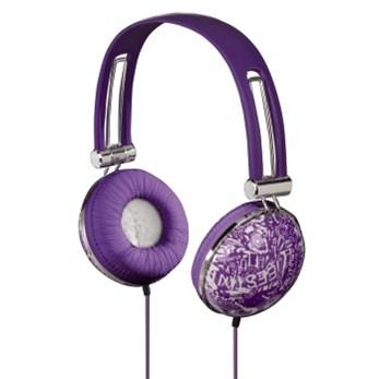Hama sluchátka HK-3044 Trend, uzavřená, fialová/bílá