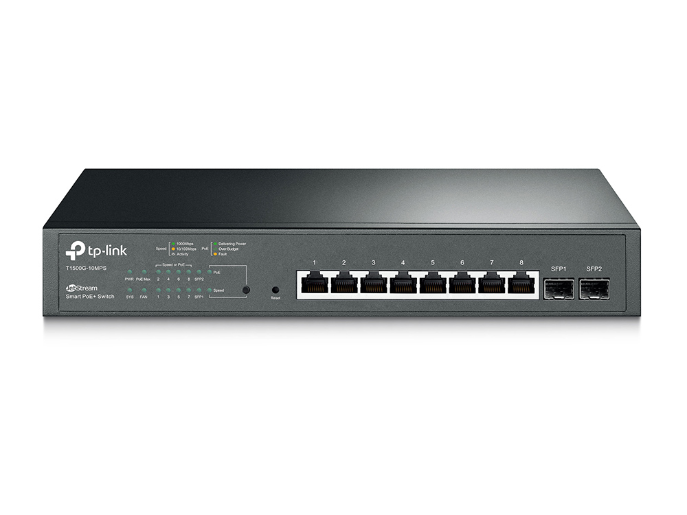 TP-Link T1500G-10MPS 8 Gbit RJ45, 2xSFP POE 53W
