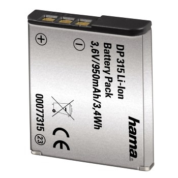 Hama fotoakumulátor Li-Ion 3,6 V/950 mAh, typ Sony NP-BG1