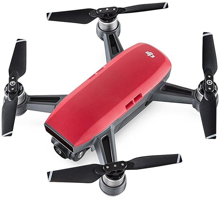 DJI kvadrokoptéra - dron, Spark, Full HD kamera, červený