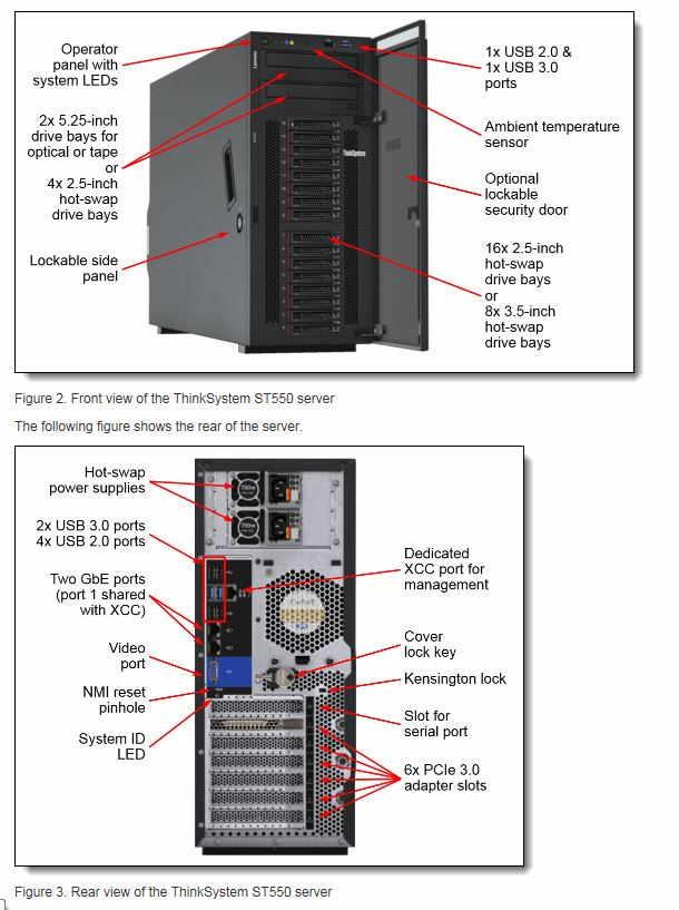"""Lenovo ThinkSystem ST550 1x Silver 4110 8C 2.1GHz 85W/1x16GB/0GB 2,5""""(8)/930-8i(2GB f)/XCC-S/750W"""