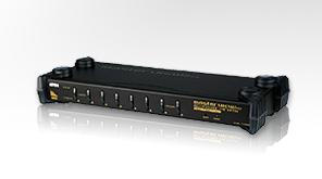 """ATEN KVM switch CS-1758 USB&PS2 8PC , OSD, 19""""/ vráceno z testování"""