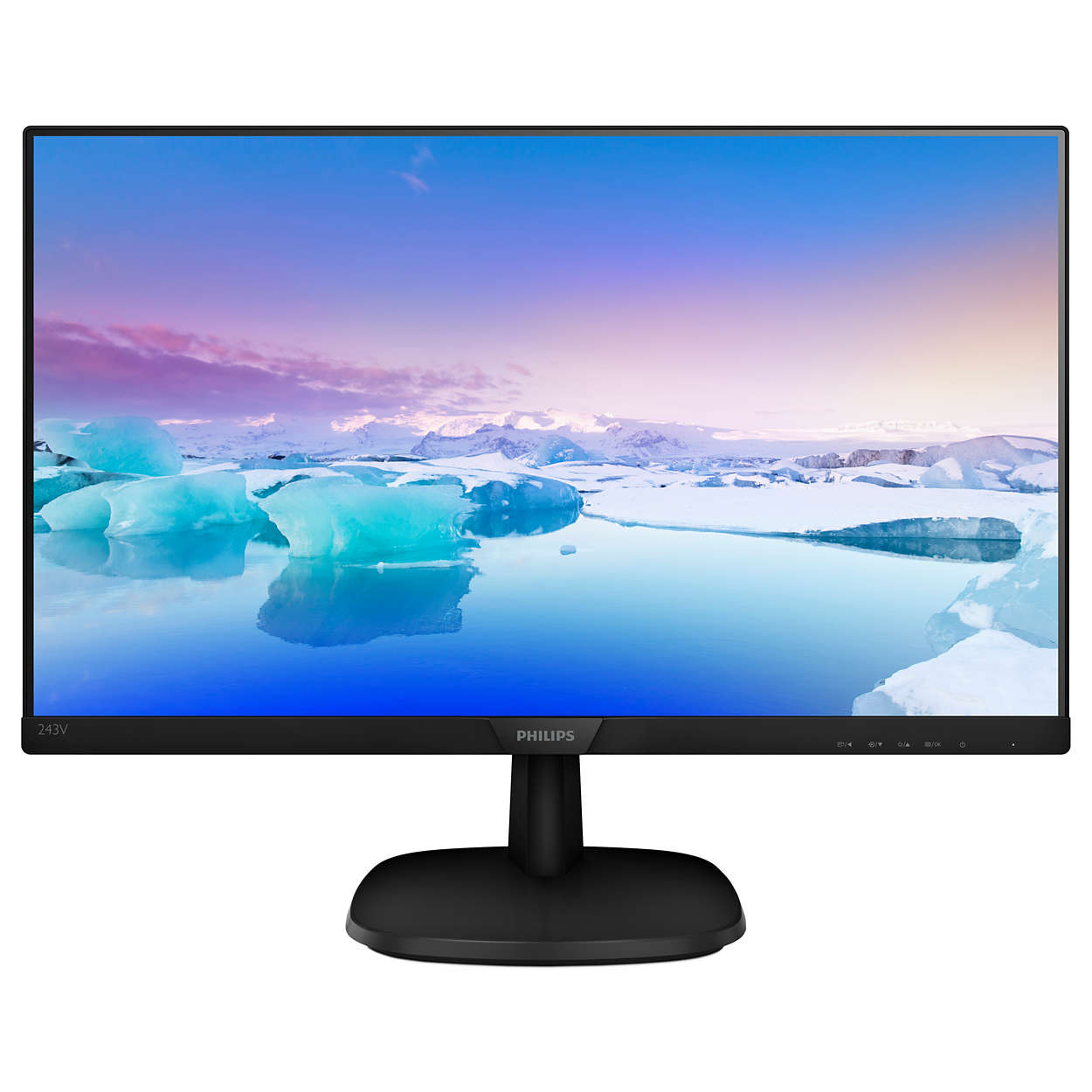 Monitor Philips 243V7QDSB/00 24'', panel-IPS; HDMI, DVI, D-Sub
