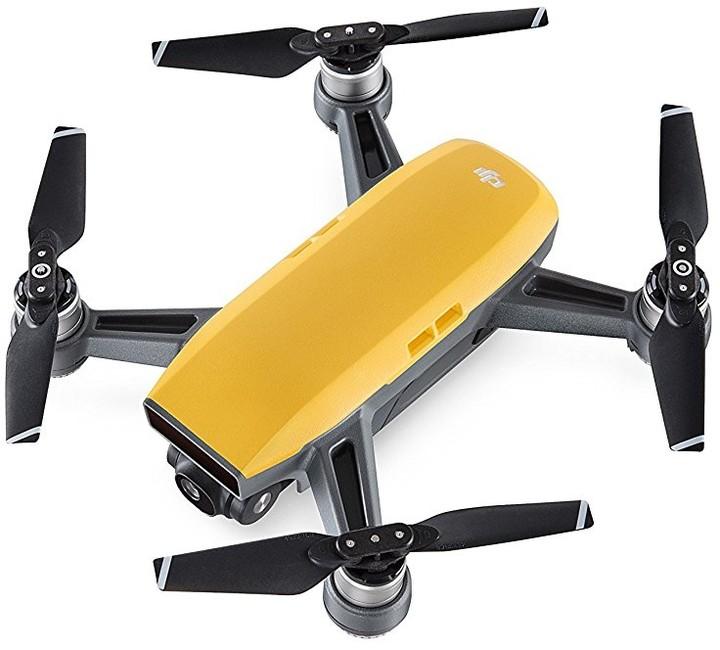 DJI kvadrokoptéra - dron, Spark Fly More Combo, Full HD kamera, žlutý