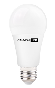 Canyon LED COB žárovka, E27, kulatá, 9W, ekv. 60W, 806 lm, teplá bílá 2700K, 1+1 ZDARMA