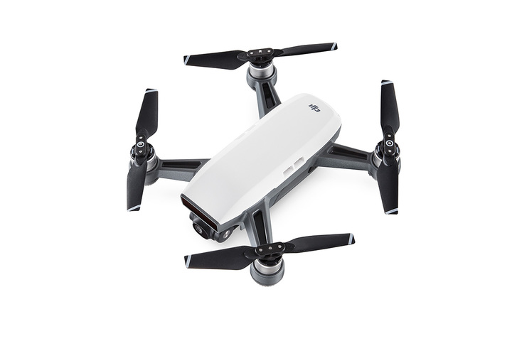 DJI kvadrokoptéra - dron, Spark, Full HD kamera, bílý