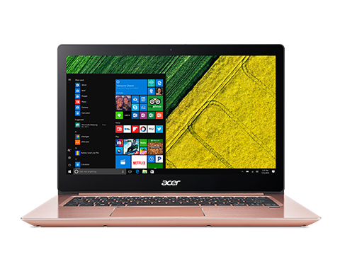 "Acer Swift 3 (SF314-52-37WQ) i3-7100U/4GB+N/A/256GB Intel PCIe SSD+N/HD Graphics/14"" FHD IPS/BT/W10 Home/Pink"