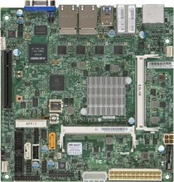 SUPERMICRO MB N3700 SoC, 2x ,SODIMM DDR3, 2x SATA3, PCIe 3.0 x1 in x8, IPMI , 4x LAN, audio
