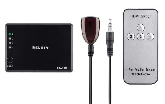 BELKIN 4-cestný HDMI automatický přepínač Gold
