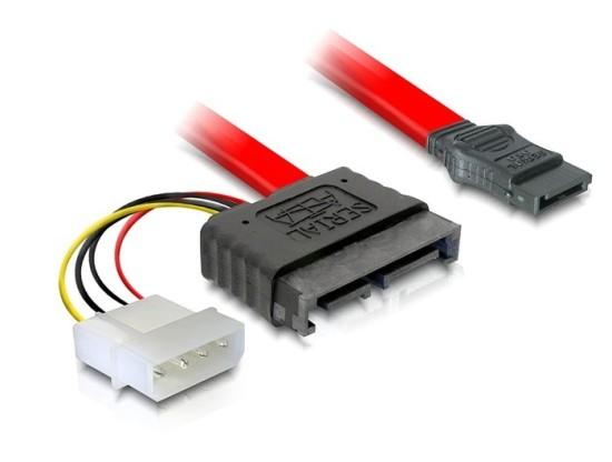 DeLock kabel SATA Slimline All-in-One 7+6pin samec, 12V