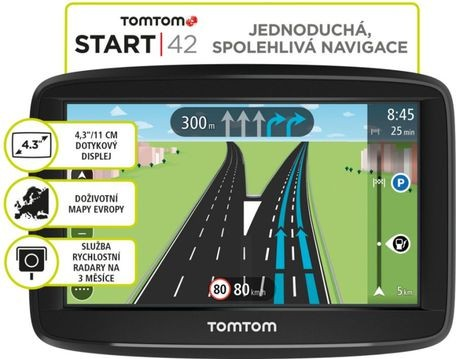 TOMTOM START 42 Regional LIFETIME mapy